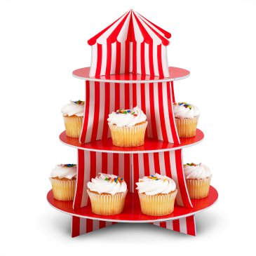 carnival cupcake stand
