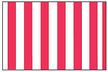red and white striped decorations