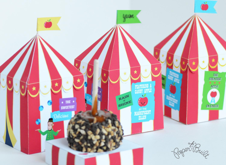 carnival tent cupcake holders