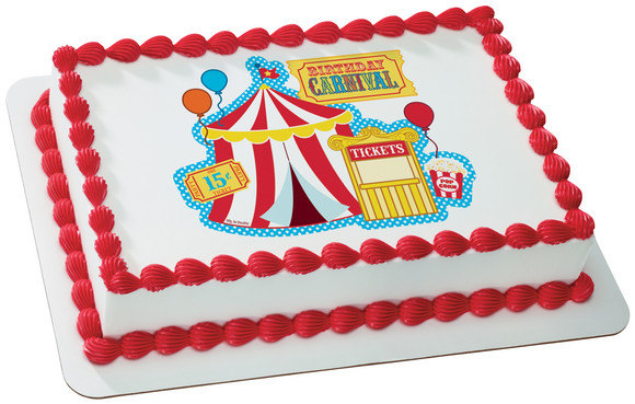 carnival edible cake image icing