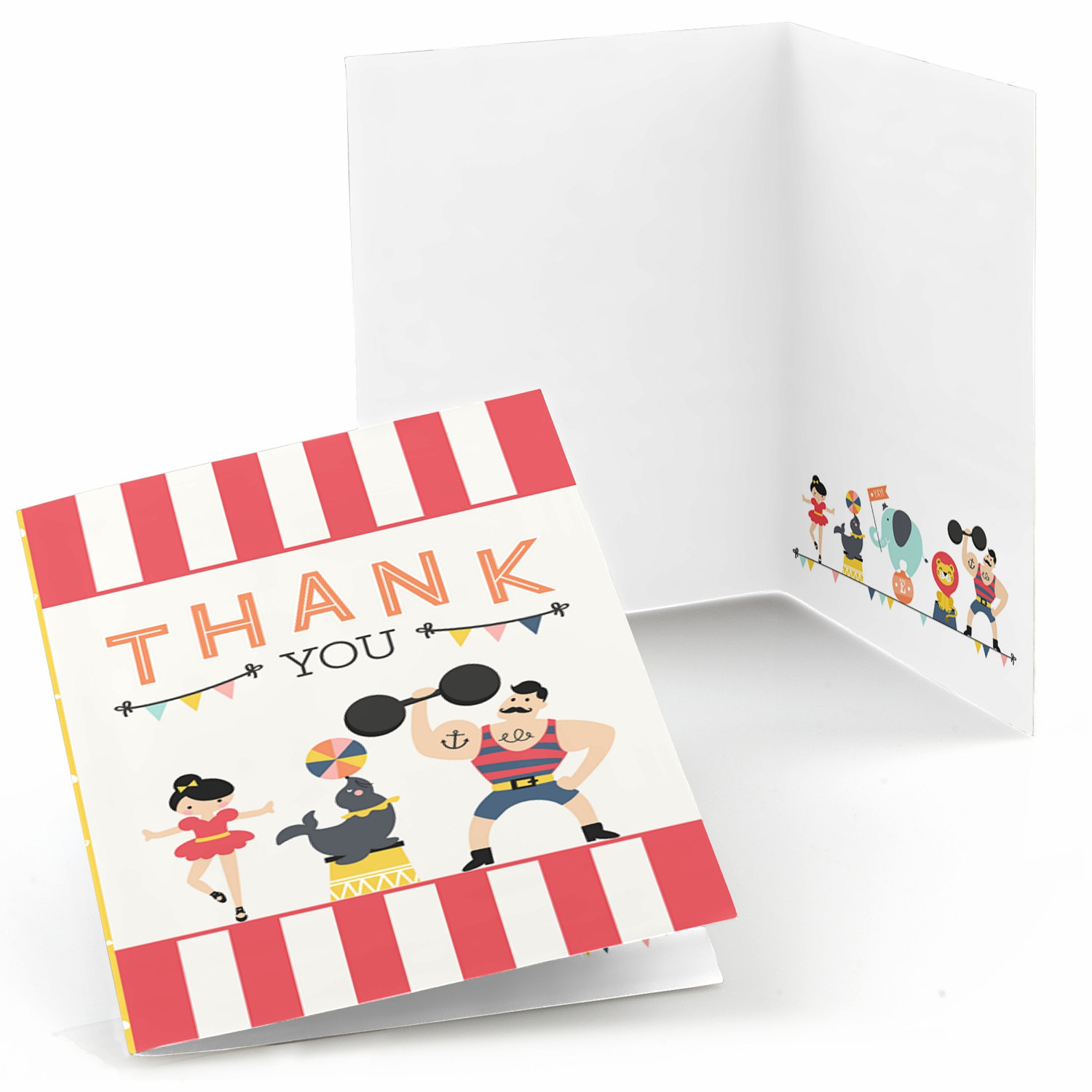 carnival thank you cards