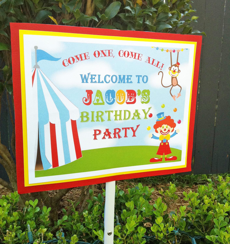 carnival yard sign