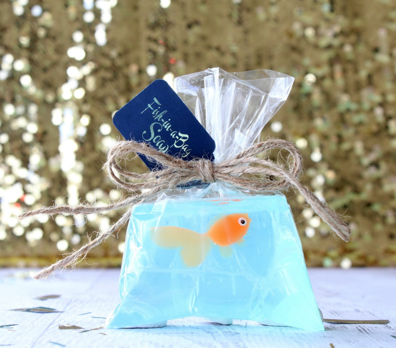 carnival fish in bag party favor