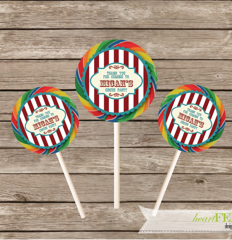 carnival lollipops