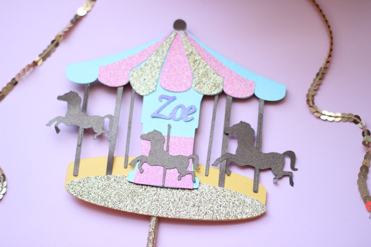 carnival cake toppers