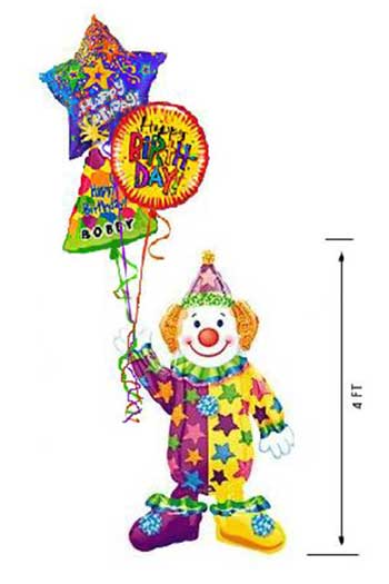 clown airwalker balloon