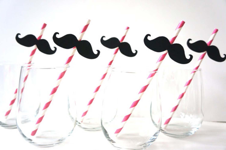 carnival mustache straws