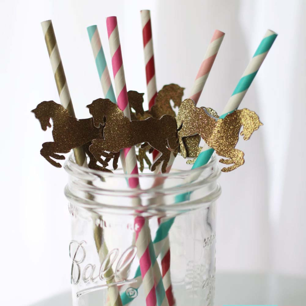 carnival party straws