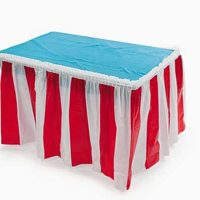 carnival table skirt