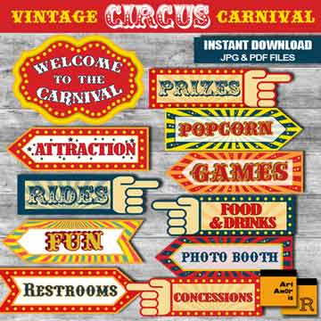 carnival signs