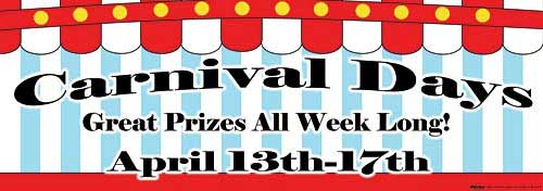 carnival personalized banner