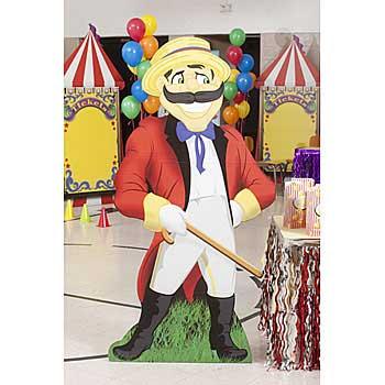 carnival barker standee cutout prop