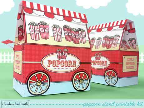 popcorn cart favor boxes