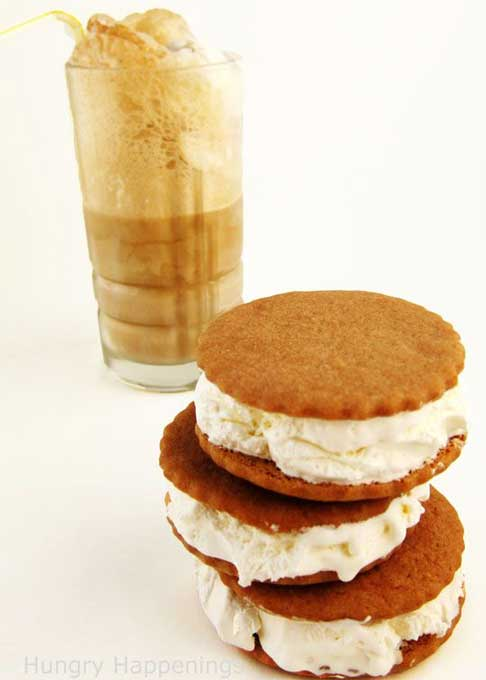 root beer float ice cream sandwiches
