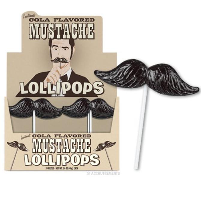 carnival mustache lollipop