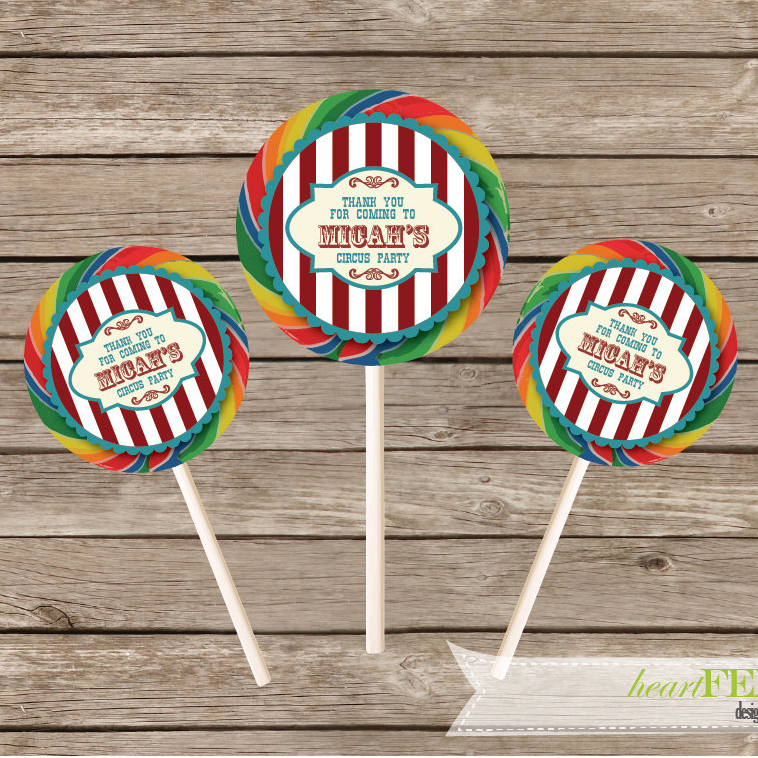 carnival lollipop stickers