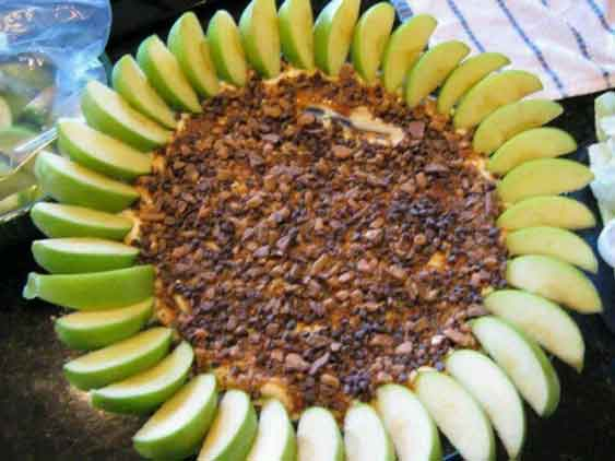 carnival party food caramel apple dip