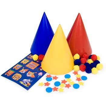 decorate a clown hat