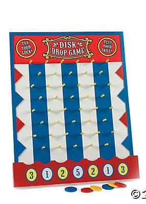 carnival party game disk drop