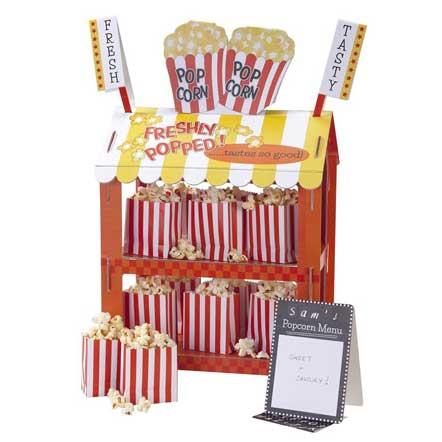 cardboard carnival stall treat stand popcorn