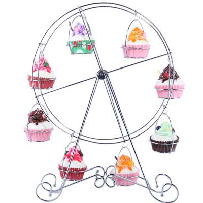 carnival ferris weheel cupcake stand