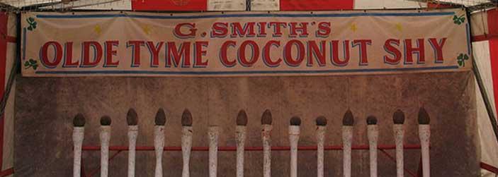 carnival coconut shy