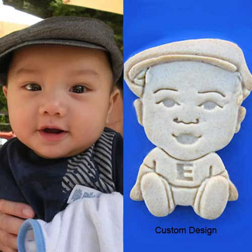 custom cartoon face portrait cookies