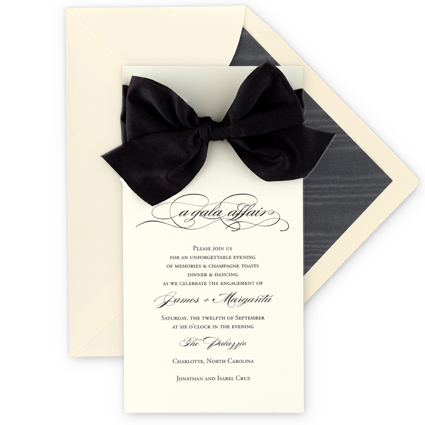 Black Tie Gala Invitations