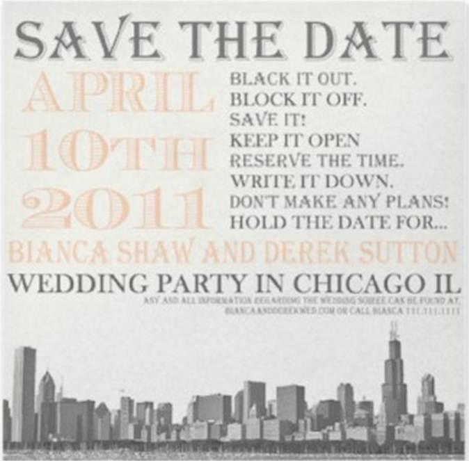 create invitations save the date
