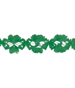 green tissue garland
