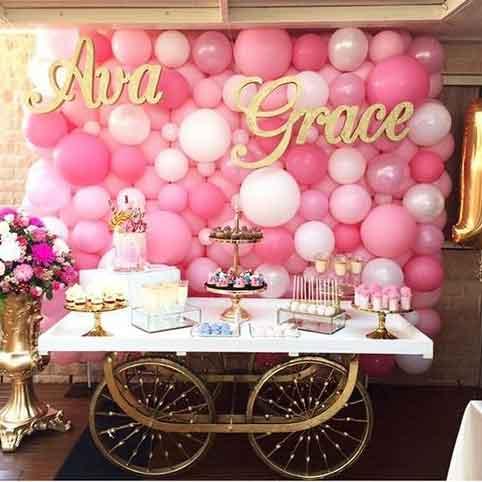 balloon dessert  buffet table backdro