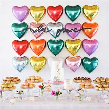 balloon wall dessert table