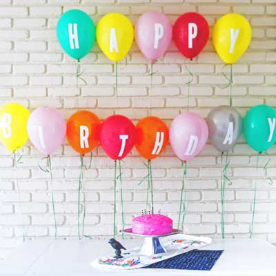 balloons with vinyl letters