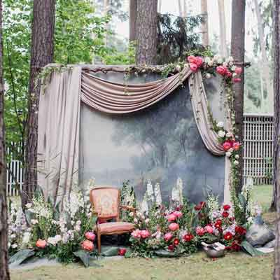woodland forest photographic backdrop