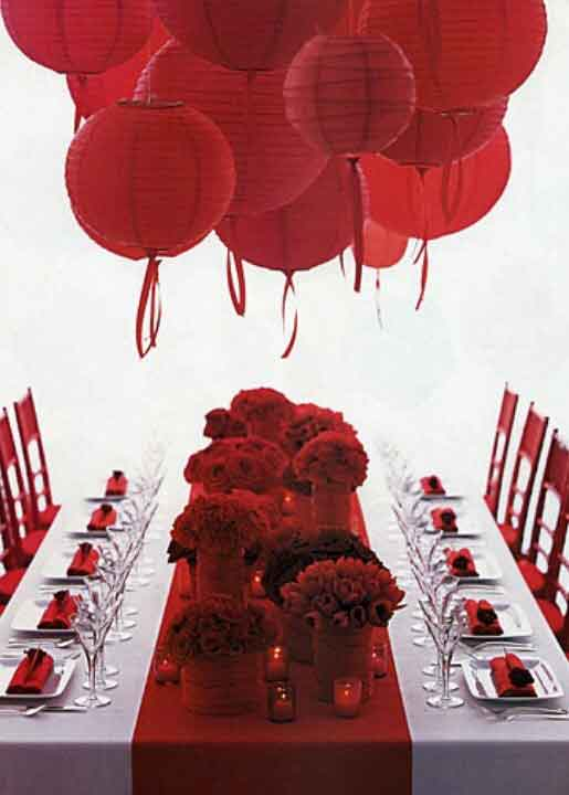 red paper lanterns decorations