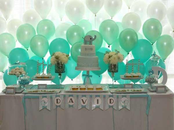 ombre balloon dessert table backdrop