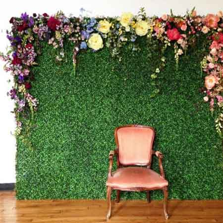 artificial boxwood topiary hedging backdrop