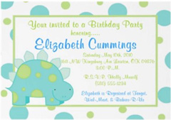 kids dinosaur invitations