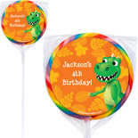 dinosaur lollipops