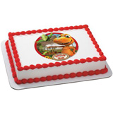 dinosaur train edible cake image