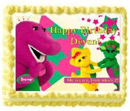 barney edible cake image