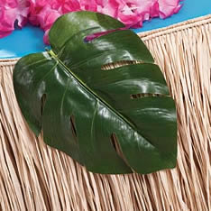 plastic tropical leaves