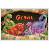 personalized dinosaur placemats
