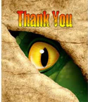 dinosaur thank you notes