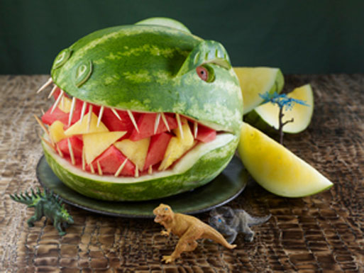 dinosaur party ideas watermelon dinosaur