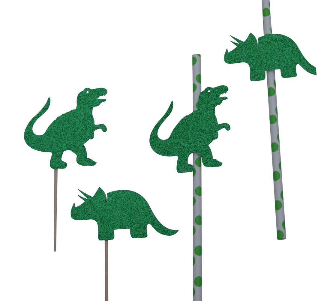 dinosaur straws