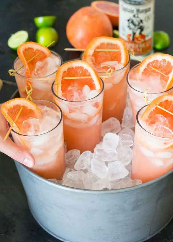 party drink ideas guava rum cocktail