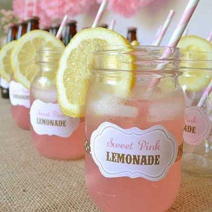 mason jar non alcoholic party drinks