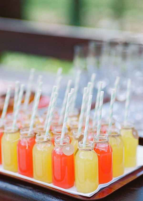 party drink in milk bottles