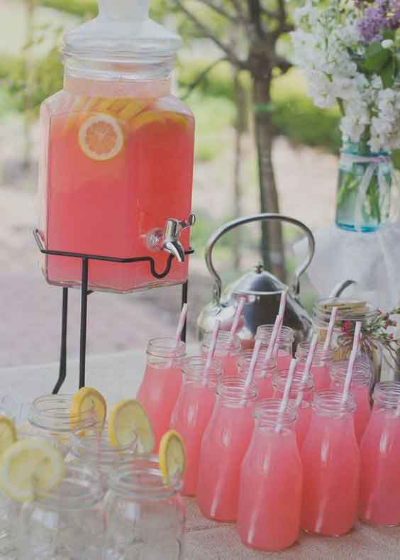party drinks served in milk bottles